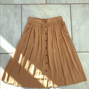 Forever 21 Button Down Midi Skirt